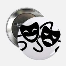 "theatre masks 2.25"" Button (10 pack)"