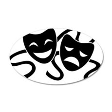theatre masks Wall Decal