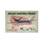 Drone Hunting Permit Rectangle Magnet (100 pack)