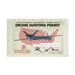 Drone Hunting Permit 35x21 Wall Decal