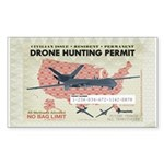 Drone Hunting Permit Sticker (Rectangle 10 pk)
