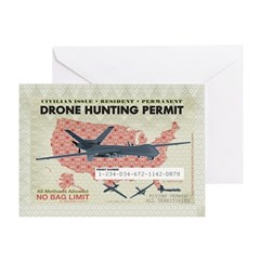 Drone Hunting Permit Greeting Card