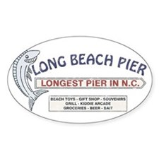 Vintage Long Beach Pier Decal
