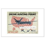 Drone Hunting Permit Large Poster