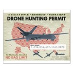 Drone Hunting Permit Small Poster
