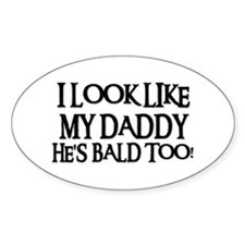 BALD TOO! Oval Decal