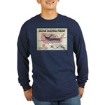 Drone Hunting Permit Long Sleeve Dark T-Shirt