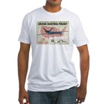 Drone Hunting Permit Fitted T-Shirt