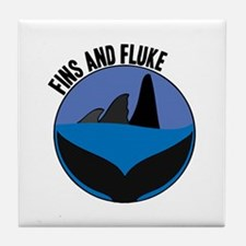 Fins And Fluke Tile Coaster