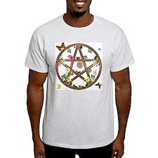 """Living Pentagram"" Ash Grey T-Shirt"