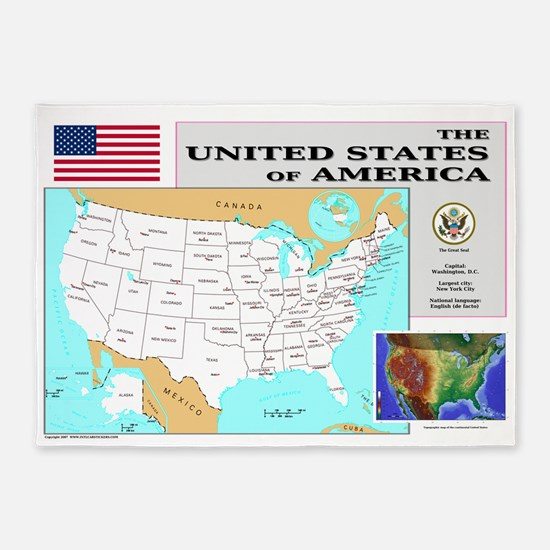 USA_Map-7000x4600-LP.png 5'x7'Area Rug