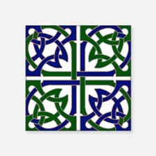 "Celtic Knot Squared Square Sticker 3"" x 3"""