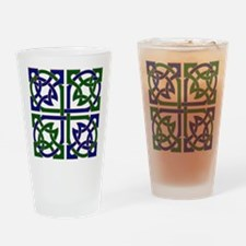 Celtic Knot Squared Drinking Glass