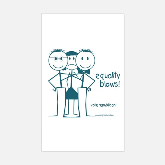 Equality BLows anti-Bush smiley face Decal