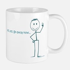 go away mug smiley head attitude cool & fun