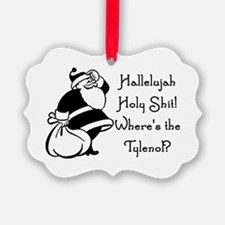 Confused Santa Ornament