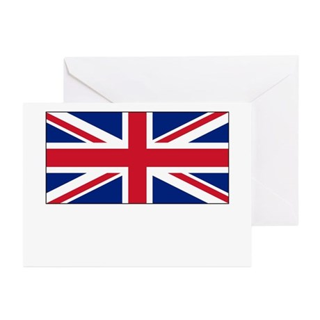 The United Kingdom Flag Picture Greeting Cards (Pa