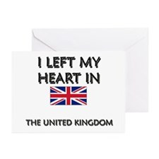 I Left My Heart In The United Kingdom Greeting Car
