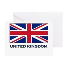 The United Kingdom Flag Gear Greeting Cards (Packa