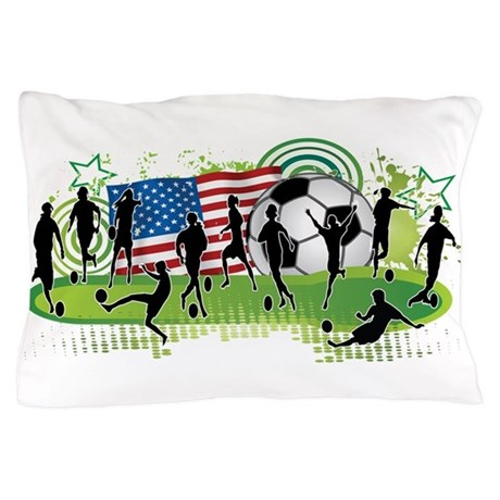 USA Women Soccer Pillow Case