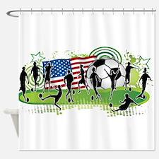 USA Women Soccer Shower Curtain