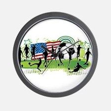 USA Women Soccer Wall Clock