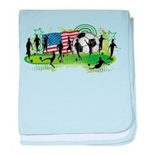 USA Women Soccer baby blanket