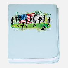 USA Women Soccer baby blanket