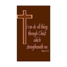 Philippians 4 13 Brown Cross Decal