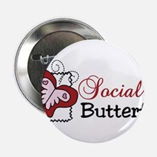 "Social Butterfly 2.25"" Button"