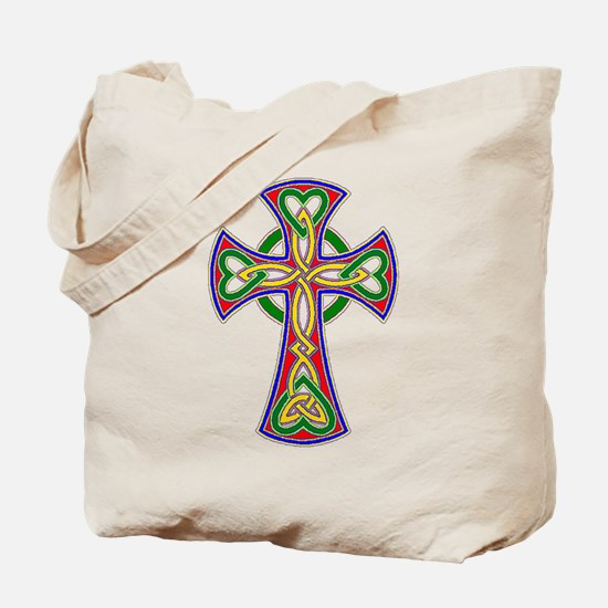 Primary Celtic Cross Tote Bag