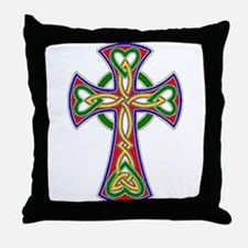 Primary Celtic Cross Throw Pillow