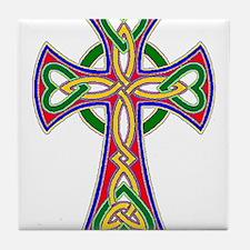 Primary Celtic Cross Tile Coaster