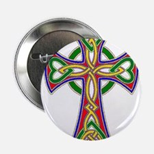 "Primary Celtic Cross 2.25"" Button"