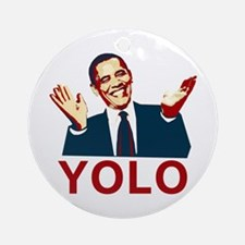 Obama YOLO Ornament (Round)