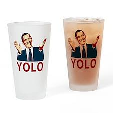 Obama YOLO Drinking Glass