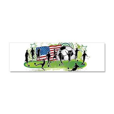 USA Women Soccer Car Magnet 10 x 3