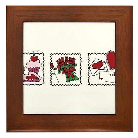 Three Valentine Scenes Framed Tile