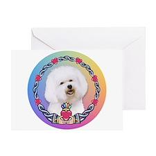 Bichon Frise Claddagh #1 Greeting Card