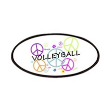 Volleyball Colored Peace Signs Patches