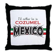 Cozumel Mexico Throw Pillow