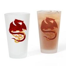 Red Dragon 2 Drinking Glass