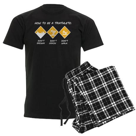 How To Be A Triathlete Men's Dark Pajamas
