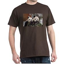 Pandas Eating Dark T-Shirt