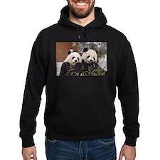 Pandas Eating Hoodie (dark)