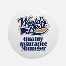 Quality Assurance Manager (Worlds Best) Ornament (
