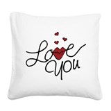 Kiss lips Square Canvas Pillows