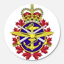 Canadian Forces Logo Round Car Magnet