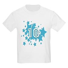 10th Birthday Ten 10 Stars  Kids T-Shirt