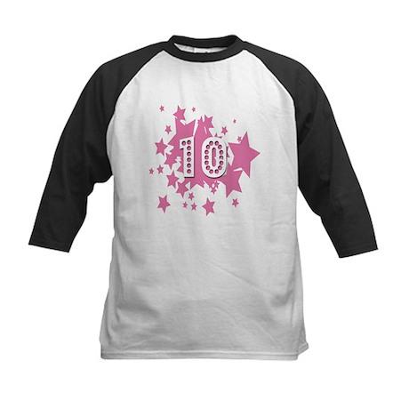 Tenth Birthday 10 Stars Kids Baseball Jersey